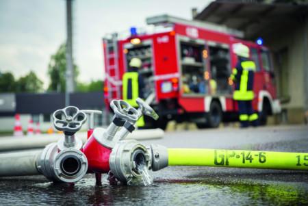 Stockfoto Feuerwehr