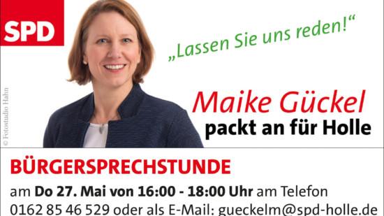 Bürgersprechstunde Maike Gückel 05/21