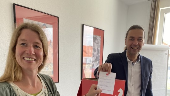 Simone + Bernd Lynack, Apfelbaumverlosung