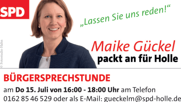 Bürgersprechstunde Juli Maike Gückel 2021