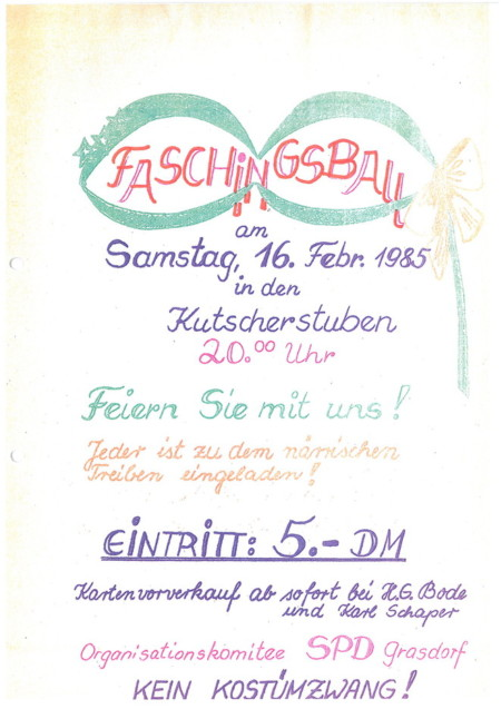 Einladung Faschingsball